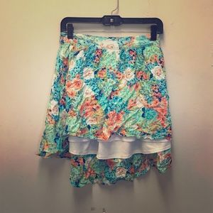 Floral Candies Hi Low Skirt